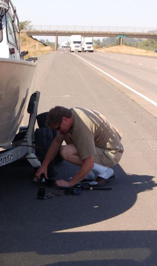 Dave fixing tire