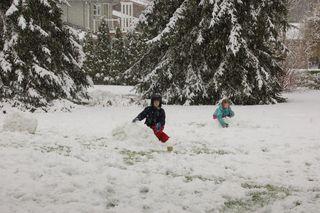 Snowforts yesterday