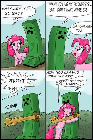 Pinkie Pie and creeper
